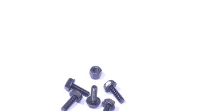 Bolt with flange 4 x 12 mm DIN6921, black (Set of 5)   (AT062)