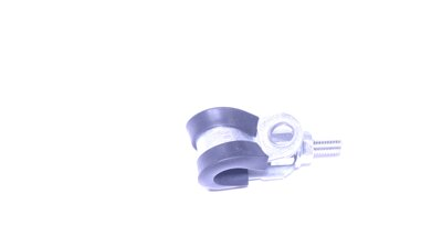Pipe retaining clip 08/12 mm, stud 4 x 30 mm and nut with flange M4   (AT180)