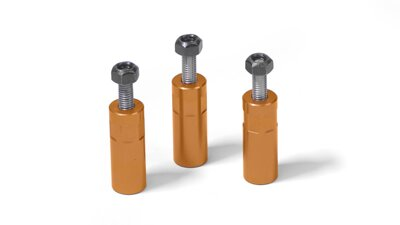 Aluminum spacer, orange (Set of 3)   (MP046)