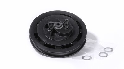 Plastic pulley with assembled easy start spring    (MP052)