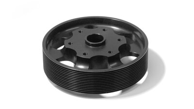 Pulley O 128 mm 13 grooves, black   (MP113)